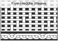 Five Heddle Weave Wiremesh
