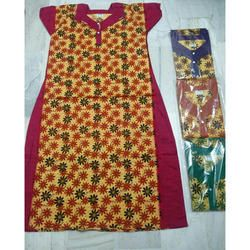 Ladies Designer Cotton Gown