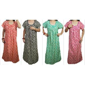 Ladies Trendy Cotton Gown