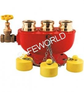 3 Way Fire Brigade Inlet Valve