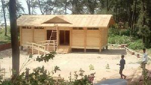 Wooden Public Toilet