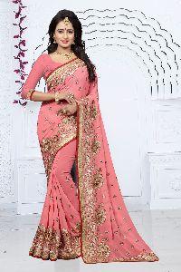 Aradhana Georgette Silk Wedding Saree