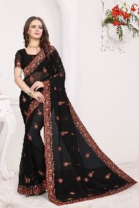 Georgette Kashmiri Queen Wedding Saree