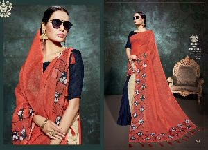 Linen Digital Print Bollywood Saree