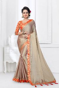Monthan Silk Satin Festival Saree
