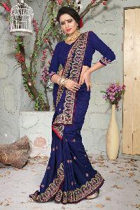 Nikah Vichitra Silk Wedding Saree