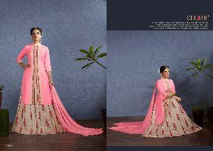Pink Satin Salwar Kameez