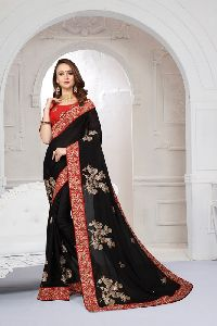 Pure Satin Heritage Party Wear Saree