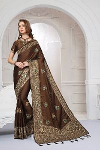 Silk Satin Heritage Party Wear Saree