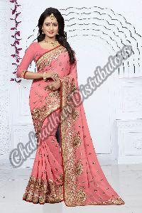 Aradhana Georgette Silk Wedding Saree