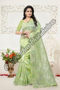 Fancy Organza Designer Saree