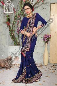 Nikah Vichitra Silk Wedding Saree