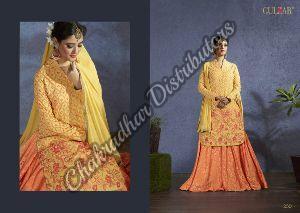 Yellow Pink Muslin Salwar Kameez