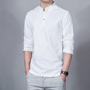Mens Chinese Collar Shirt