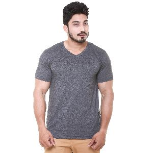 Mens V-Neck T- Shirt