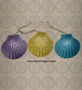 Seashell Painted Hanging Ornaments