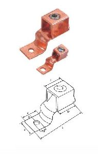 Copper One Hole Offset Tongue Terminal Ends
