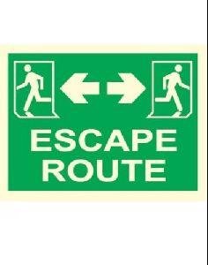 Green Escape Route sign Board