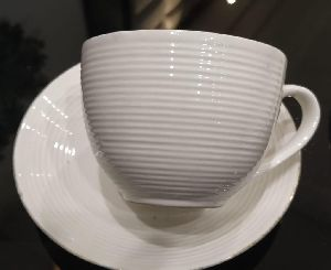 Ceramic Tea Cup with Saucer Plate