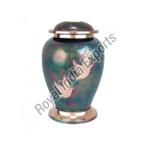 Birds Printed Brass Urn