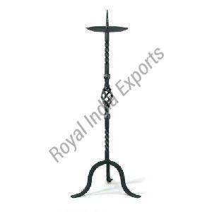 Black Pillar Candle Stand