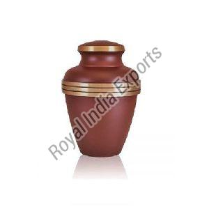 Brown Brass Urn