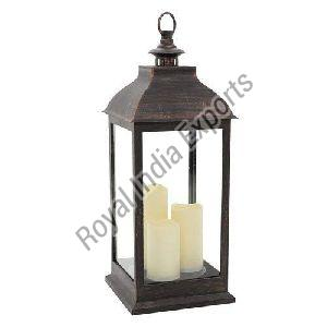 Copper Pillar Candle Lantern