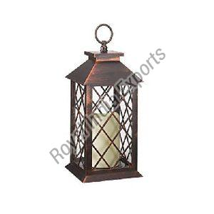 Copper Window Candle Lantern