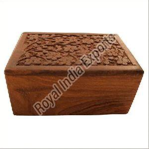 Decorative Carved Wood Urn