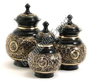 Engraved Brass Urn