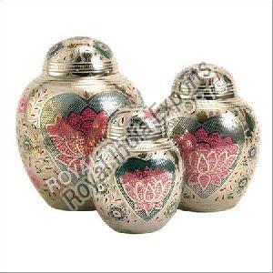 Lotus Brass Urn