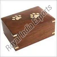Paw Embossed Wood Urn