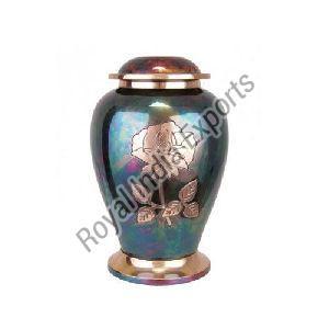 Rose Print Brass Urn