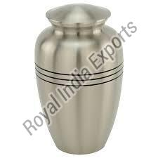 Rustic Grey Brass Urns