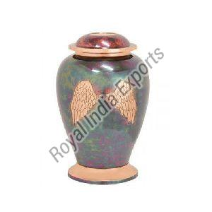 Wings Print Brass Urn