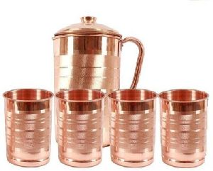 Copper Glass Jug Set
