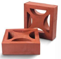 Square Shaped Clay Jali