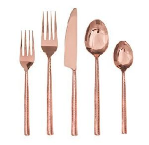 Copper Flatware Set
