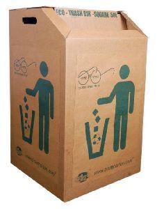 Cardboard Trash Bin