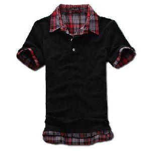 Mens Double Collar T Shirt