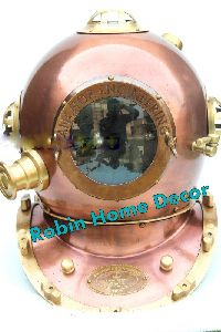 Antique Copper Finish Diving Helmet