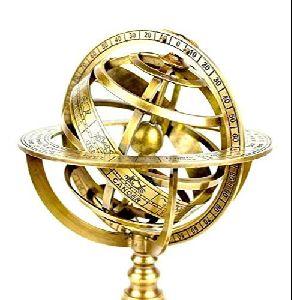 Brass Armillary Astrolabe Inclinometer
