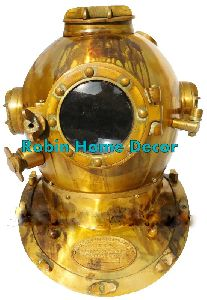 Brass Scuba Diving Helmet