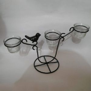 Black Iron Candle Holder