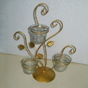 Golden Iron Candle Holder