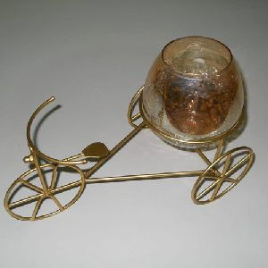 Iron Rickshaw Candle Holder