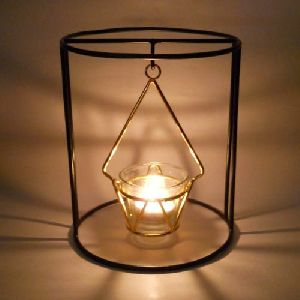 Iron T Light Candle Holder