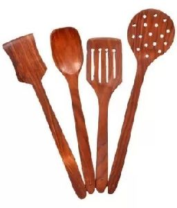 Brown Wooden Spatula