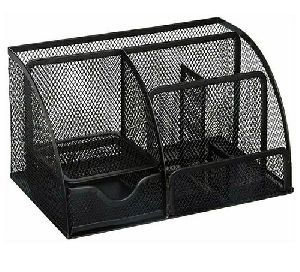 Black Mesh Desk Organizer
