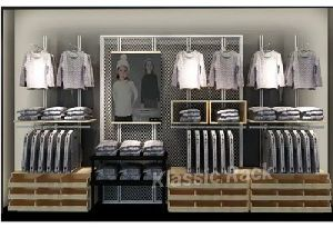 Shopping Mall Garment Display Rack